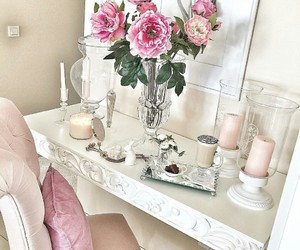 candels, flowers, and girl image