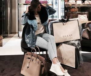 bags, girl, and clothes image