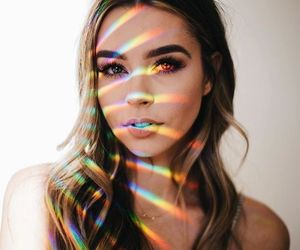 girl, rainbow, and tumblr image