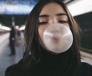 girl and bubblegum image