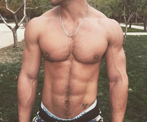 hairy chest, hunks, and shorts image