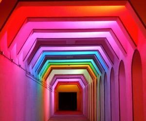 rainbow, aesthetic, and lights image