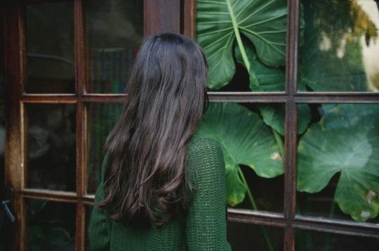 green, girl, and hair image