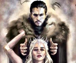 jon snow, game of thrones, and daenerys image