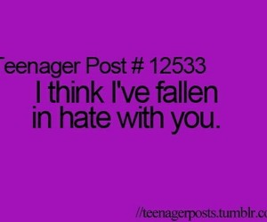 hate, quotes, and teenager post image