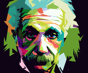 Albert Einstein, art, and e=mc2 image