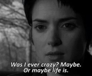 girl interrupted, quote, and crazy image