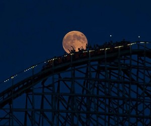 Amusement Parks, moon, and carnival image