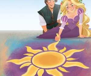 art, movies, and rapunzel image