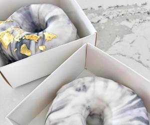 food, donuts, and gold image