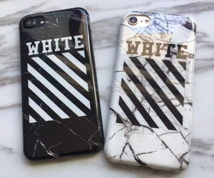 black, white, and iphone covers image