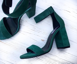 fashion, green, and heel image