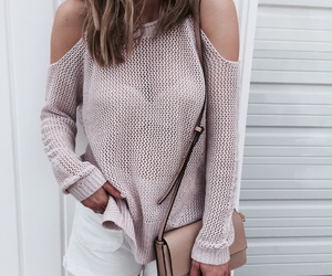 beige, pink, and sweater image