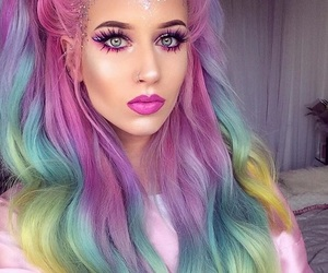 beautiful, color, and make up image