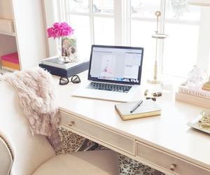 room, bedroom, and desk image