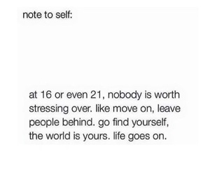 quotes, life, and move on image