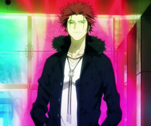anime, mikoto suoh, and the red king image