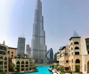 Dubai and burj khalifa image