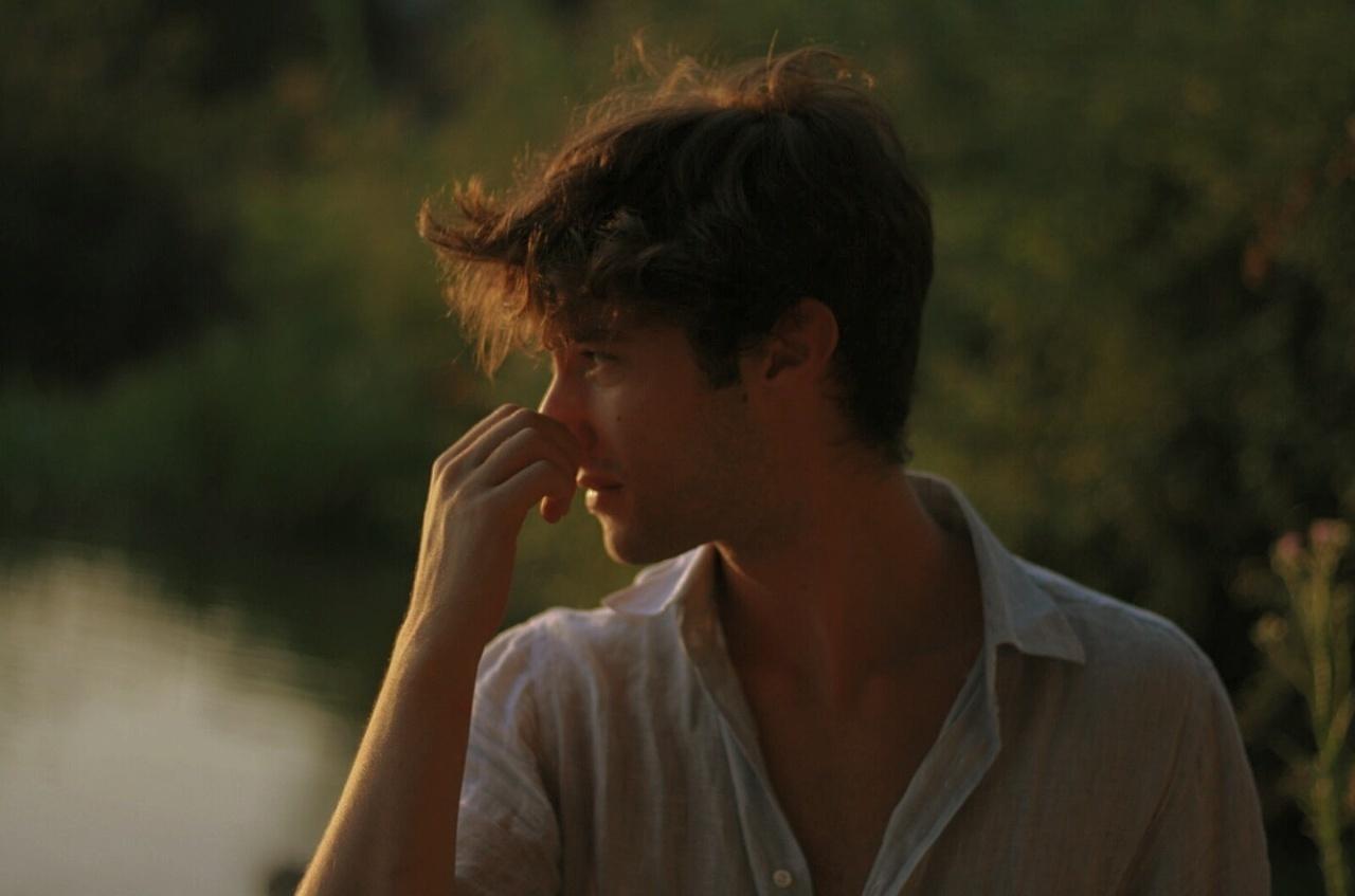 boy, indie, and lake image