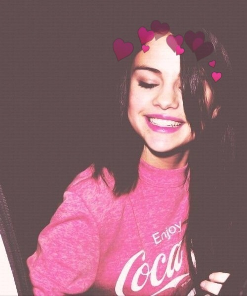 selena gomez, smile, and pink image
