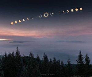 moon, eclipse, and sky image