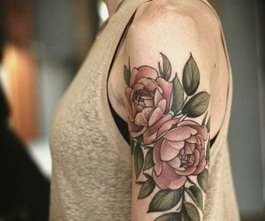 peonies and tattoo image