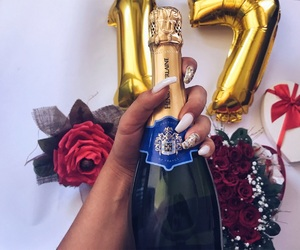 beautiful, birthday, and champagne image