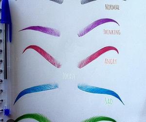 art and eyebrows image