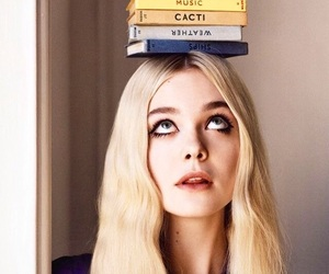 Elle Fanning and book image