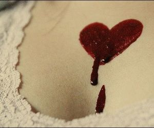 blood, heart, and red image
