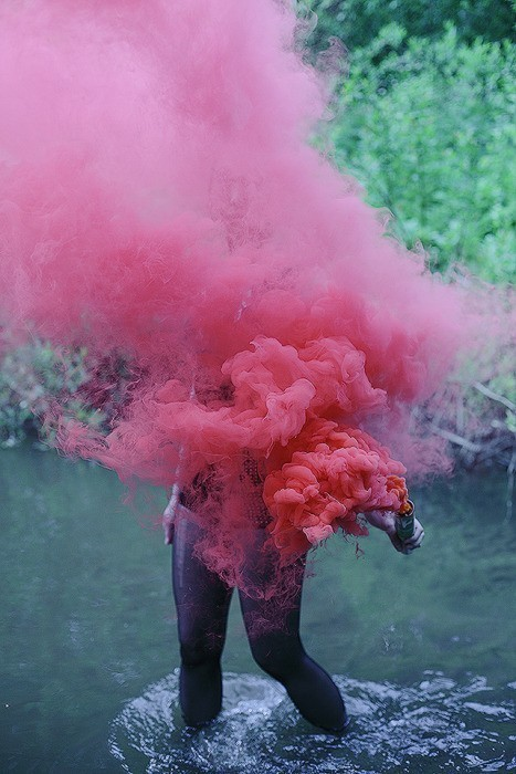 pink and smoke image