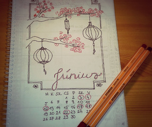 art, calendar, and dates image