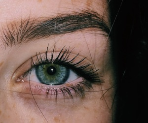 eye, girl, and eyebrows image