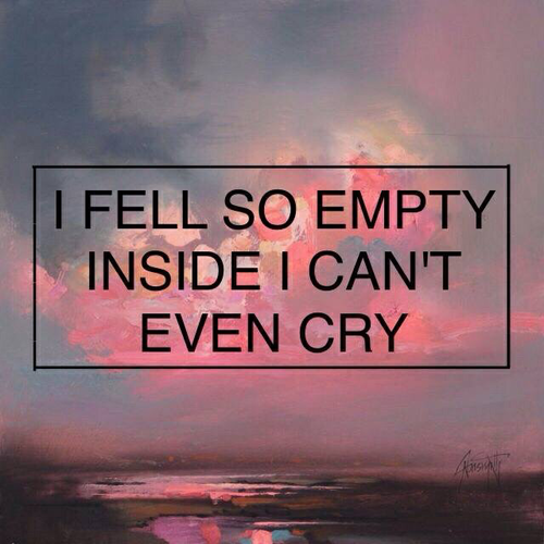 empty and cry image