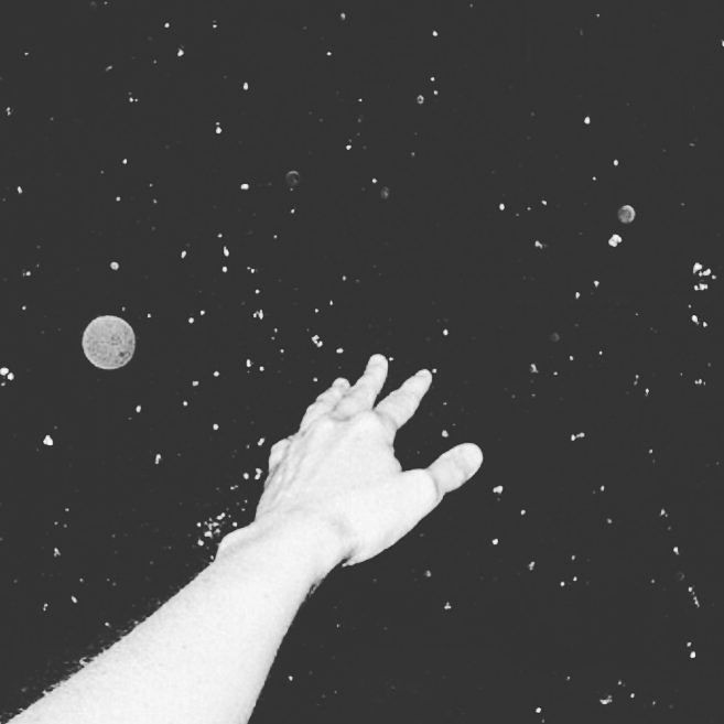 stars, hand, and space image