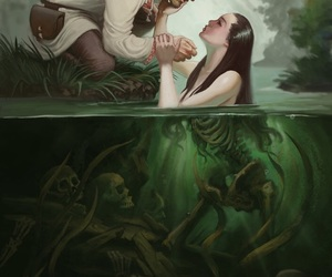 art, mermaid, and fantasy image
