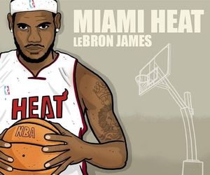 LeBron James, sport, and NBA image