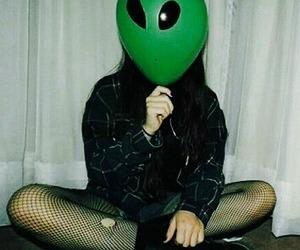 girl, alien, and black image