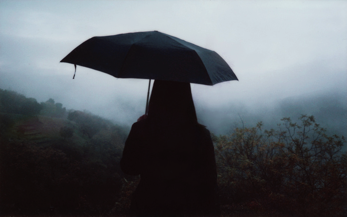 umbrella, dark, and grunge image