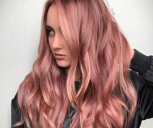 girl, hairstyle, and rose gold image