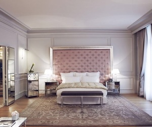 bedroom, hotel, and paris image