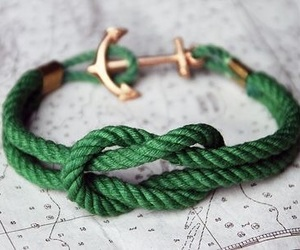 bracelet, green, and style image