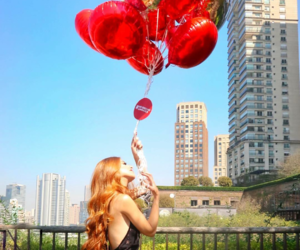 balloons, longhair, and fashion image
