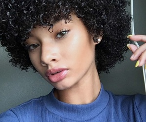 Afro, beauty, and black hair image
