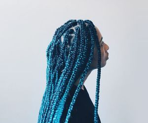 blue, braids, and hairstyle image