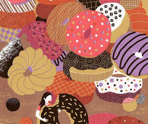donuts, food, and background image