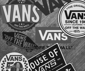 vans, alternative, and black & white image