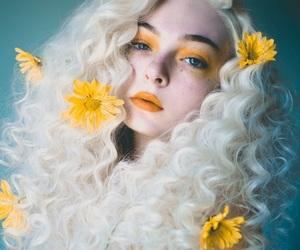 girl, daisy, and hair image