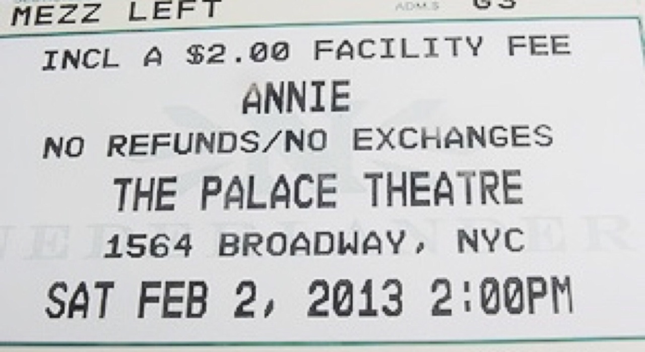 annie, broadway, and new york image