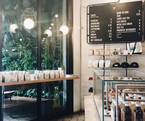 cafe, pale, and pretty image
